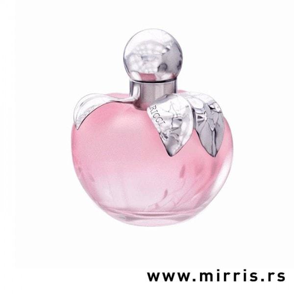 Roze bočica testera Nina Ricci L'eau u obliku jabuke