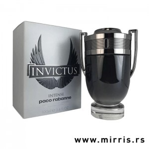 Boca parfema Paco Rabanne Invictus Intense u obliku pehara i siva kutija