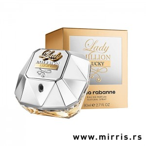 Bočica parfema Paco Rabanne Lady Million Lucky i originalna kutija