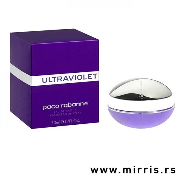Bočica parfema Paco Rabanne Ultraviolet i kutija ljubičaste boje