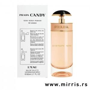 Bela kutija i boca testera Prada Candy L'eau