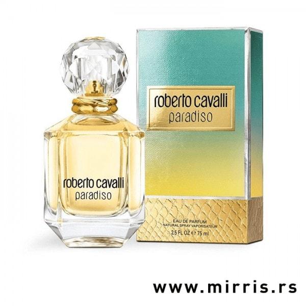 Bočica parfema Roberto Cavalli Paradiso i originalna kutija