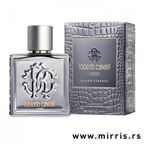 Parfem Roberto Cavalli Uomo Silver Essence srebrne boje i originalna kutija