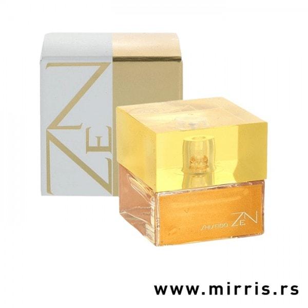 Bočica parfema Shiseido Zen pored originalne kutije