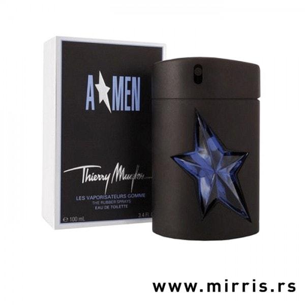 Crna kutija i bočica originalnog parfema Thierry Mugler A*Men