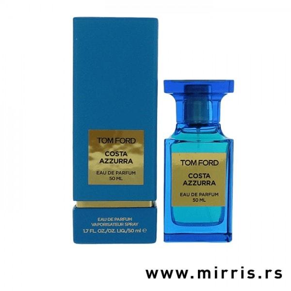 Plava kutija i boca originalnog parfema Tom Ford Costa Azzurra