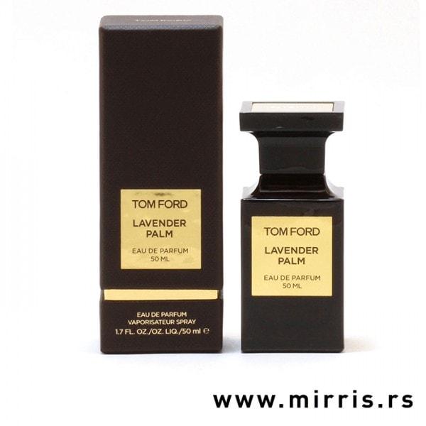Smeđa kutija i bočica originalnog parfema Tom Ford Lavender Palm