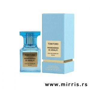 Bočica originalnog parfema Tom Ford Mandarino Di Amalfi pored plave kutije