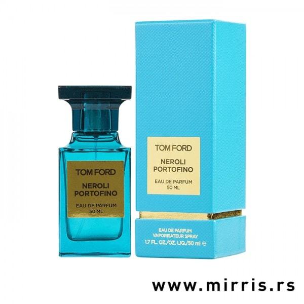 Bočica originalnog parfema Tom Ford Neroli Portofino plave boje i plava kutija