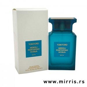 Bela kutija i plava bočica parfema Tom Ford Neroli Portofino Aqua