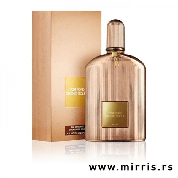 Bočica parfema Tom Ford Orchid Soleil pored originalne kutije