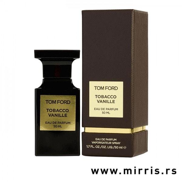 Bočica parfema Tom Ford Tobacco Vanille pored originalne kutije