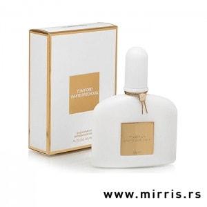 Boca parfema Tom Ford White Patchouli pored bele kutije