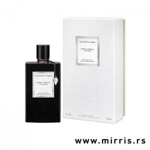 Crna bočica parfema Van Cleef & Arpels Ambre Imperial pored bele kutije