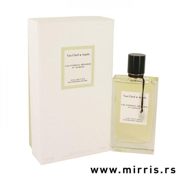 Boca originalnog parfema Van Cleef & Arpels California Reverie pored bele kutije