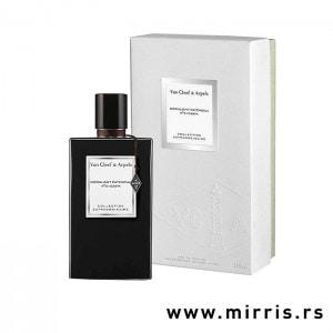 Crna bočica parfema Van Cleef & Arpels Moonlight Patchouli i kutija bele boje