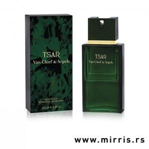 Zelena boca parfema Van Cleef & Arpels Tsar i originalna zelena ambalaža