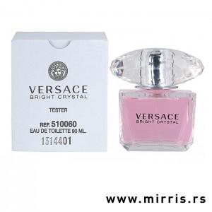 Bočica testera Versace Bright Crystal i bela kutija