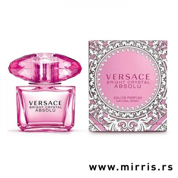 Boca parfema Versace Bright Crystal Absolu i originalna kutija
