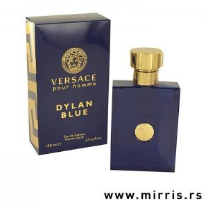 Blava boca parfema Versace Dylan Blue Pour Homme i originalna kutija