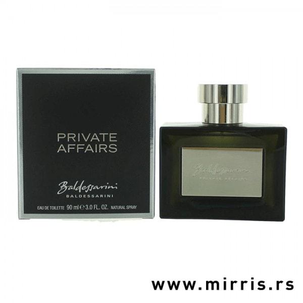 Siva kutija i boca parfema Baldessarini Private Affairs