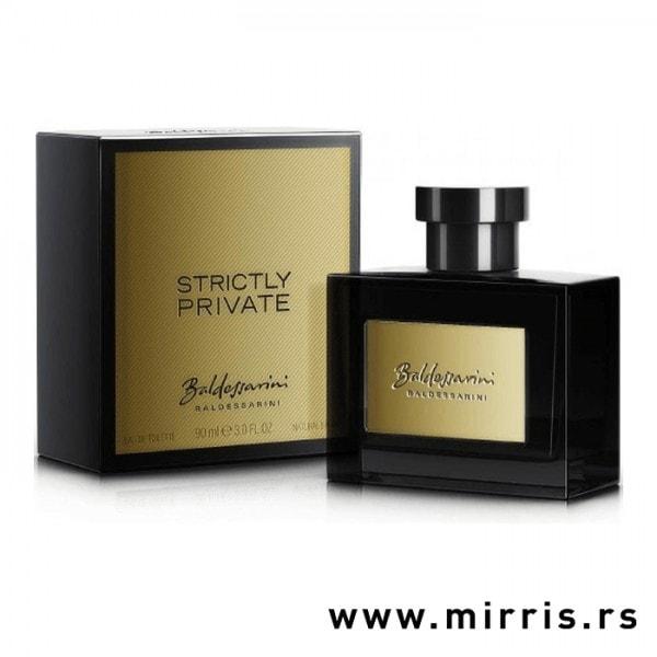Boca parfema Baldessarini Strictly Private pored originalne kutije