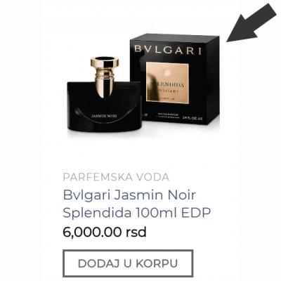 Prvi korak u naručivanju parfema sa sajta