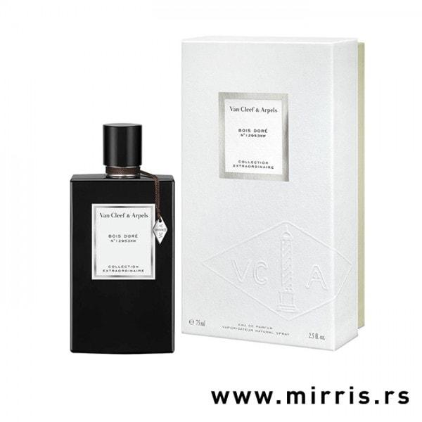 Crna boca parfema Van Cleef & Arpels Bois D`ore i kutija bele boje