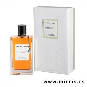 Flašica parfema Van Cleef & Arpels Orchidee Vanille pored originalne kutije