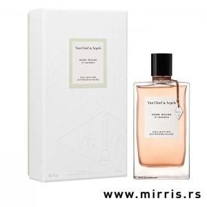 Kutija bele boje i boca parfema Van Cleef & Arpels Rose Rouge