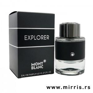 Crna kutija pored boce originalnog parfema Montblanc Explorer