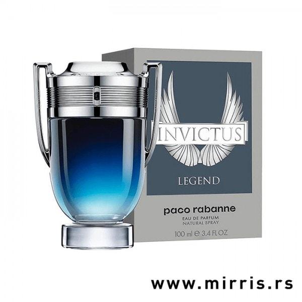 Boca parfema Paco Rabanne Invictus Legend u obliku pehara i originalna kutija