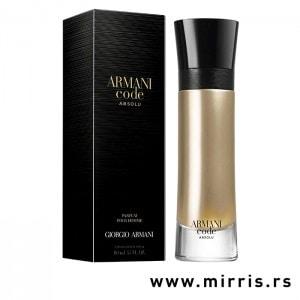 Crna kutija i boca parfema Giorgio Armani Code Absolu