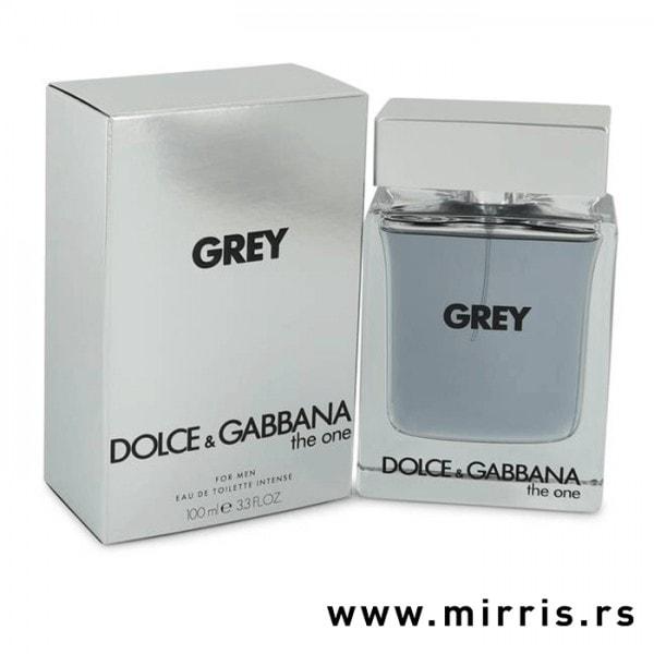 Siva kutija i boca originalnog parfema Dolce & Gabbana The One For Men Grey