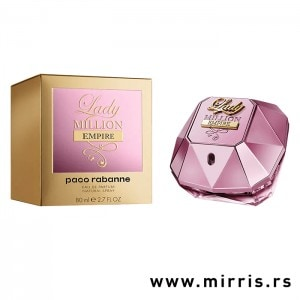 Boca originalnog parfema Paco Rabanne Lady Million Empire roze boje i kutija