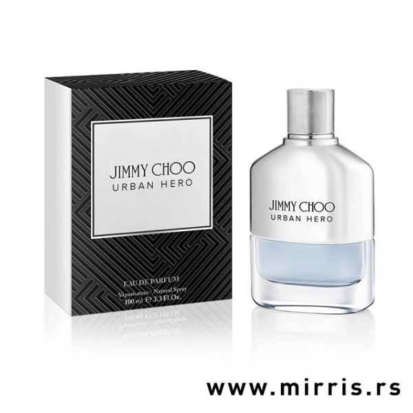 Boca originalnog parfema Jimmy Choo Urban Hero pored kutije