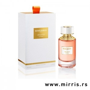 Bočica parfema Boucheron Orange De Bahia pored bele kutije