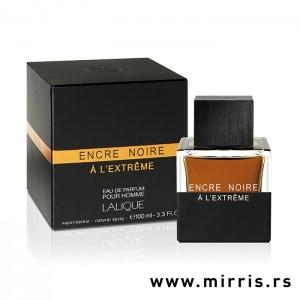 Crna kutija i boca originalnog parfema Lalique Encre Noire A L'Extreme