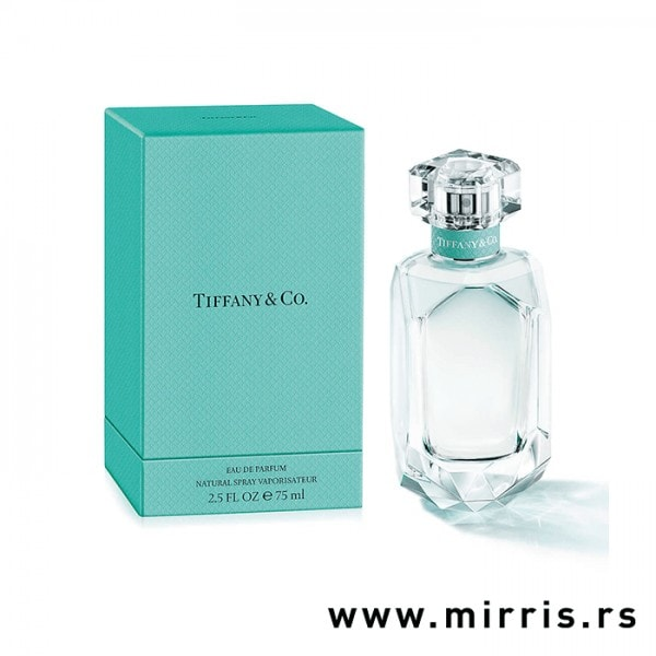 Plava kutija i boca originalnog parfema Tiffany & Co Tiffany