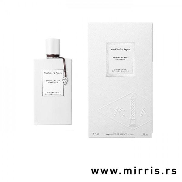 Boca parfema Van Cleef & Arpels Santal Blanc pored bele kutije