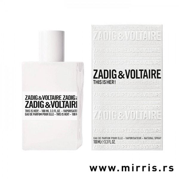 Boca originalnog parfema Zadig & Voltaire This Is Her i bela kutija