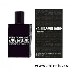 Crna boca parfema Zadig & Voltaire This Is Him i kutija crne boje