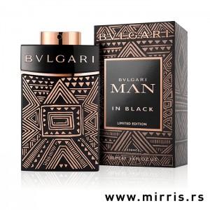 Boca parfema Bvlgari Man In Black Essence pored originalne kutije