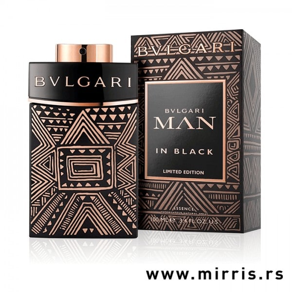 Boca parfema Bvlgari Man In Black Essence pored originalne kutije