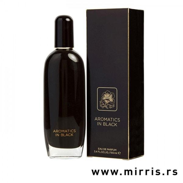 Boca originalnog parfema Clinique Aromatics In Black pored crne kutije