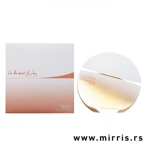 Okrugla boca parfema Gianfranco Ferre In The Mood For Love Pure pored originalne kutije