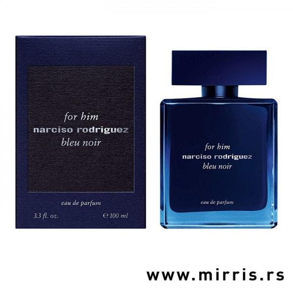 Plava kutija i boca originalnog parfema Narciso Rodriguez Bleu Noir