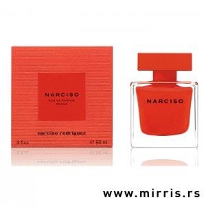 Crvena kutija pored bočice originalnog parfema Narciso Rodriguez Narciso Rouge