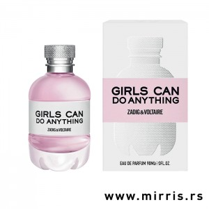Roza boca parfema Zadig & Voltaire Girls Can Do Anything pored originalne kutije