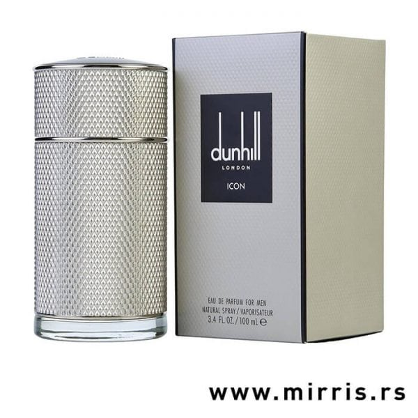 Siva poca originalnog parfema Dunhill Icon pored kutije